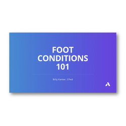 Anodyne Foot Conditions Webinar